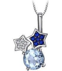 collar estrellas elegante azul arany joyas