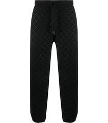 marcelo burlon county of milan all-over logo track pants - black