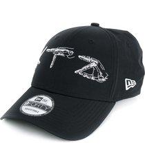 ktz hand embroidered cap - black