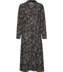 pzlouise dress knälång klänning multi/mönstrad pulz jeans