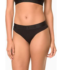 calcinha tanga black cotton - preto - m