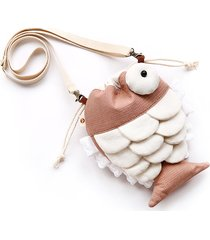 cartoon lovely style fish shape crossbody borsa spalla borsas
