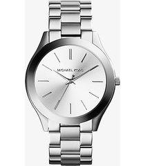 mk orologio runway sottile tonalità argento - argento (argento) - michael kors