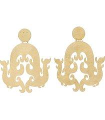 natori hammeredss swirl clip earrings, women's