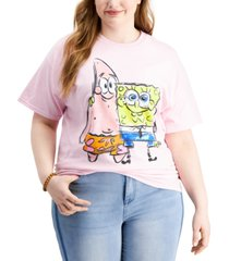 love tribe trendy plus size spongebob friends t-shirt