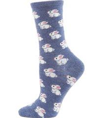 bunnies cashmere women's crew socks
