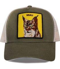 gorra verde trown headware miau