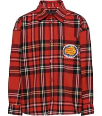 woven flanell shirt overhemd rood mini rodini