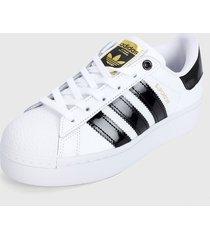 tenis lifestyle blanco-negro adidas originals superstar bold w