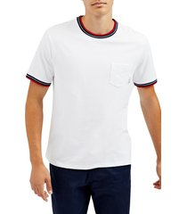 ben sherman ringer crewneck t-shirt, size small in bright white at nordstrom
