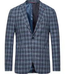 cotton blend slim fi blazer kavaj blå tommy hilfiger tailored