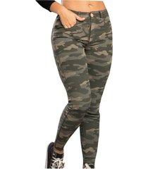 pantalón para mujer estampado - verde militar atypical