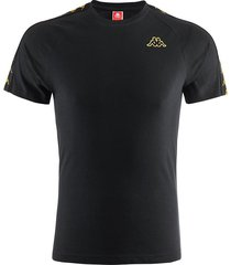 camiseta kappa coen - negro/dorado
