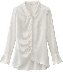 chique blouse uit biologische zijde, natuurwit 40