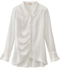 zijden blouse, natuurwit 42