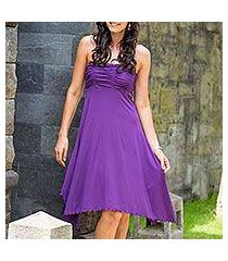 jersey knit dress, 'java in purple chic' (indonesia)