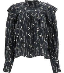 isabel marant barida silk blouse