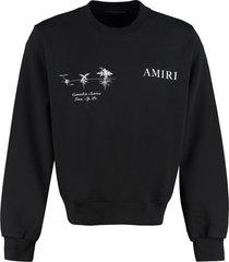 amiri medical hemp cotton crew-neck sweatshirt