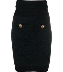 balmain stretch-knit mini skirt - black
