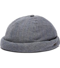 linen cotton blend monk hat