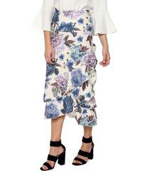 falda larga doble bolero floral ref. 127722 charby amarillo floral