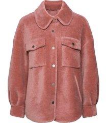 lumber jacket outerwear faux fur roze ravn