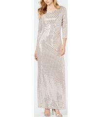 jessica howard metallic embellished gown