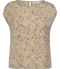 recycle polyester blouse ss blouses short-sleeved roze rosemunde