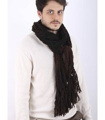 bufanda de lana negra spiga 31