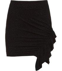 rok met ruches detail zilka  zwart