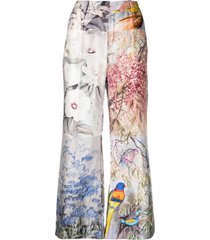 zimmermann patchwork flared trousers