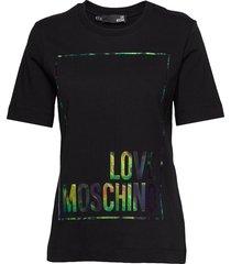love moschino t-shirt t-shirts & tops short-sleeved svart love moschino