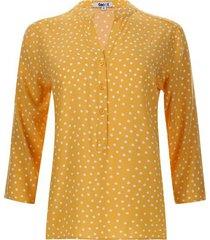 blusa mujer print pepas color amarillo, talla s