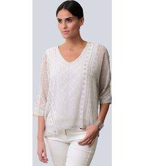 blouse alba moda offwhite::wit