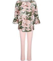 pyjama simone roze::ecru::groen