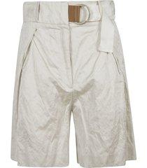 fabiana filippi one-sided belt shorts