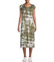calvin klein women's printed midi dress - caper multicolor - size 12