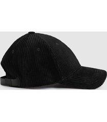 reiss kane - corduroy baseball cap in black, mens
