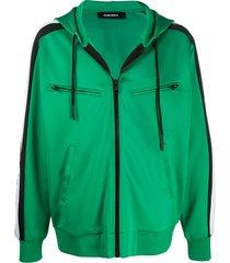 diesel s-steel multi-pocket hooded jacket - green