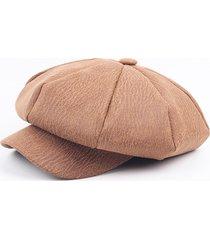 cappellino ottagonale casual da uomo cappellino berretto da uomo moderno con cappuccio bicolore