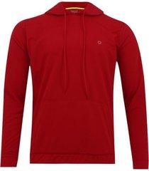buzo deportivo con capota color rojo, talla xs