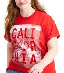love tribe trendy plus size california t-shirt