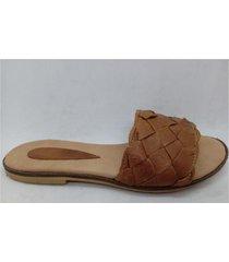sandalia marrón abryl calzados