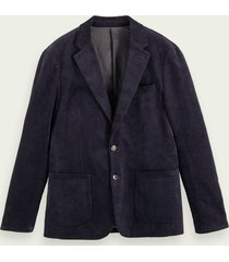 scotch & soda single-breasted corduroy blazer van biologisch katoen