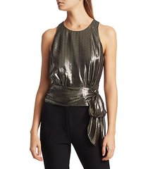 metallic lauren top