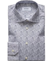 contemporary-fit paisley print dress shirt