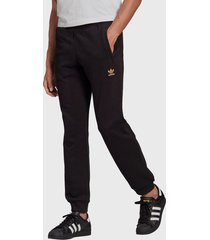 pantalón de buzo adidas originals trefoil pant negro - calce regular