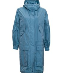 max mara light blue michi jacket in silk blend