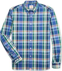 brooks brothers men's broadcloth pattern cotton shirt, created for macy's