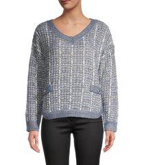 lea & viola women's knitted sweatshirt - size s